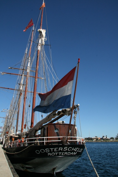 WHAT A BEAUTY: The Oosterschelde docked in Port Adelaide before setting sail to Melbourne in September 2013.